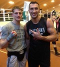 Simon Barclay with wladimir klitschko