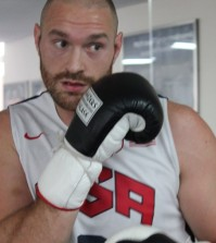tyson fury hitting the bag