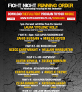The Homecoming - Running order - Black flash promotions