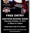 moss side free boxing show poster