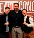 DIVIDE AND CONQUER PRESS CONFERENCEHULL CITY HALL,HULLPIC;LAWRENCE LUSTIGPROMOTER EDDIE HEARN WITH OLYMPIC GOLD MEDALIST LUKE CAMPBELL AND TOMMY COYLE